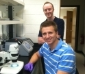 Eric Bzozowski and Damien O'Halloran in a Science Lab