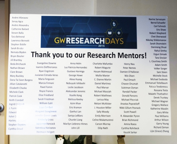 Thank You to Our Research Mentors