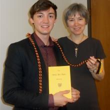 Josh Rivers and Dr. Margaret Gonglewski