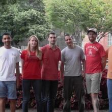 Adeel Khan with his research team members.