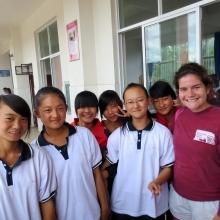 Caitlin Keliher in China