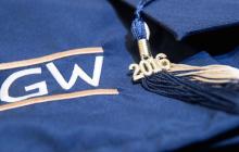 GW Graduation Cap at 2016 Commencement