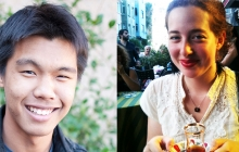 Boren 2014 winners Margaret Kahn and Isaac Chae