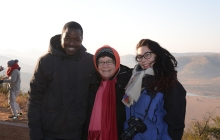 Undergraduate Researchers and Faculty Mentor in South Africa