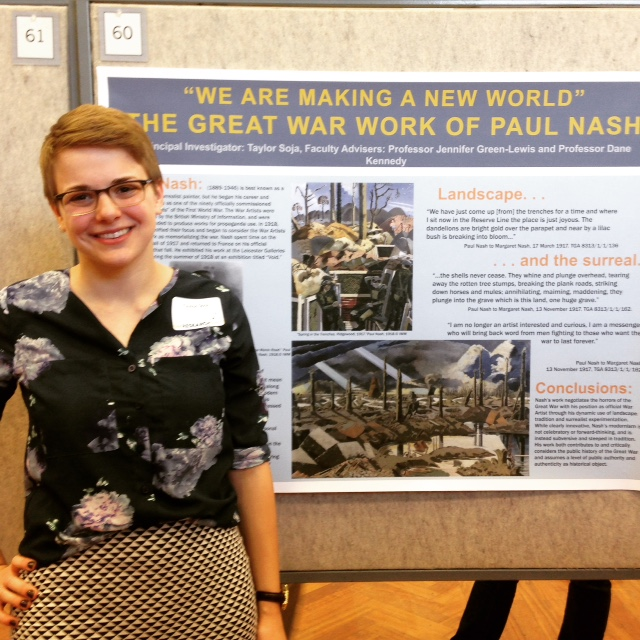 Taylor Soja at GW Research Day
